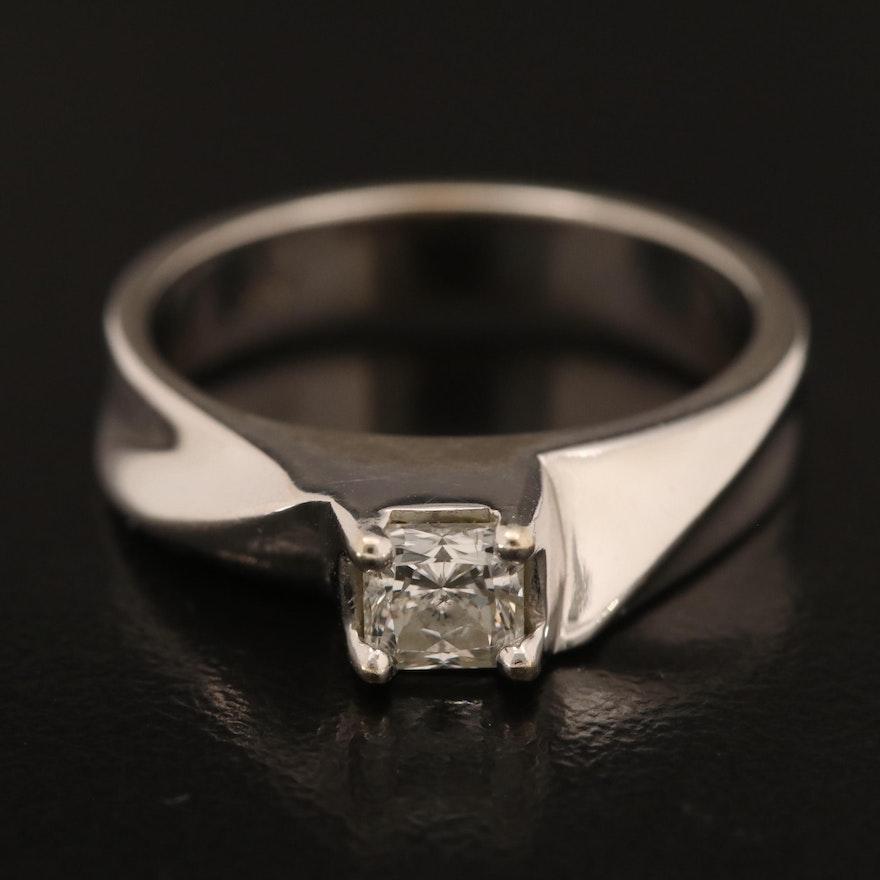 14K 0.48 CTW Diamond Solitaire Ring