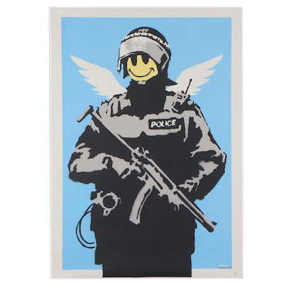 """Giclée After Banksy """"Flying Copper,"""" 21st Century"""