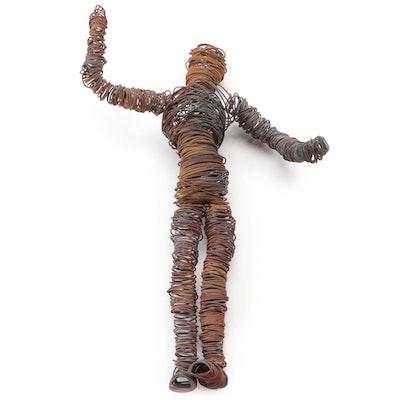 Folk Art Coiled Wire Figurine