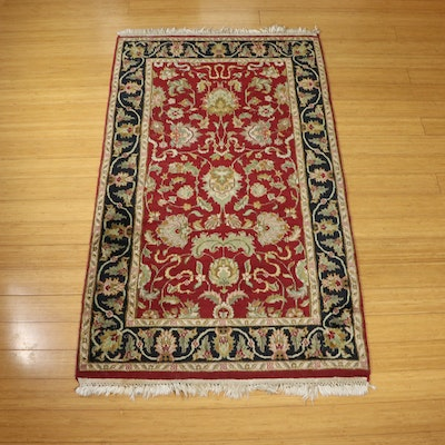 2'11 x 5'5 Hand-Knotted Indo-Persian Arak Accent Rug