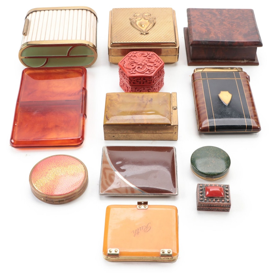 Adorable, Kissproof, Other Vanity Boxes and Cigarette Cases, Early/Mid 20th C