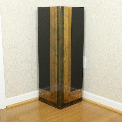 Contemporary Gilt and Black Lacquered Pedestal
