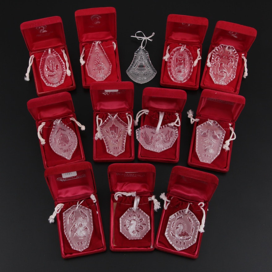 Waterford Crystal Annual Ornaments, Late 20th Century