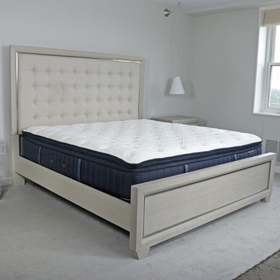 Home Meridian Upholstered King Size Bed