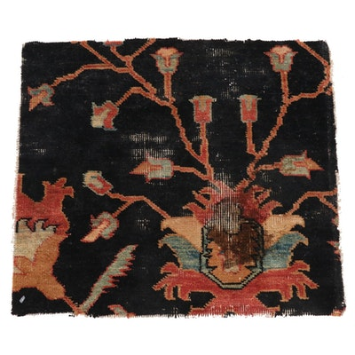 1'6 x 1'9 Persian Tabriz Rug Fragment, 1800s