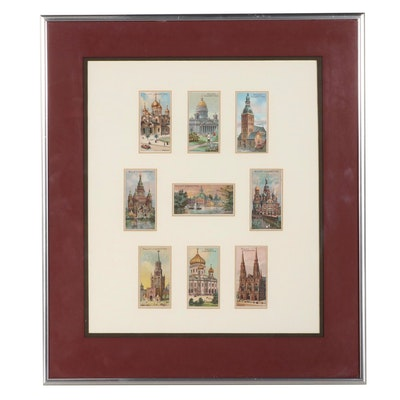 Chromolithograph Wills's Cigarette Labels Framed Collection