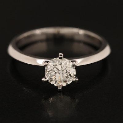 18K 0.98 CT Diamond Solitaire Ring