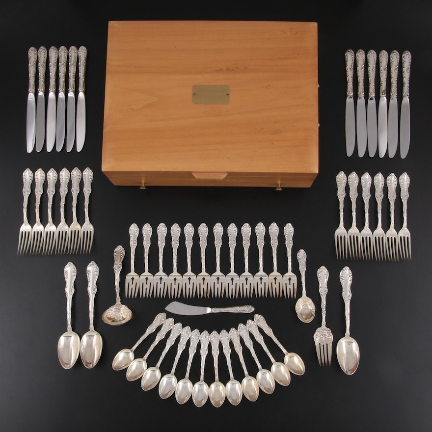 """Towle """"Old English"""" Sterling Silver Flatware, Mid to Late 20th Century"""