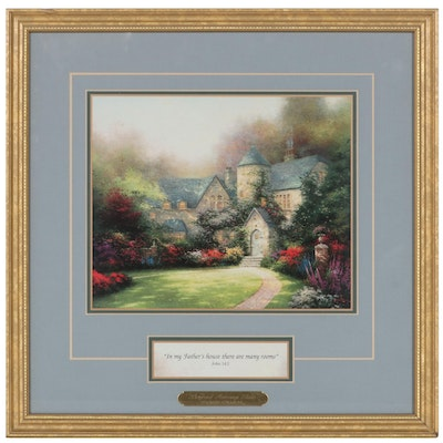 """Offset Lithograph After Thomas Kinkade """"Beyond Autumn Gate,"""" Late 20th Century"""