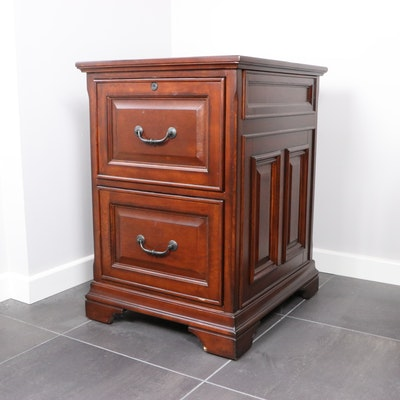 Whalen Two-Drawer Mahogany Filing Cabinet