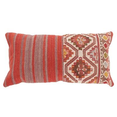 Handwoven Turkish Kilim Face Throw Pillow