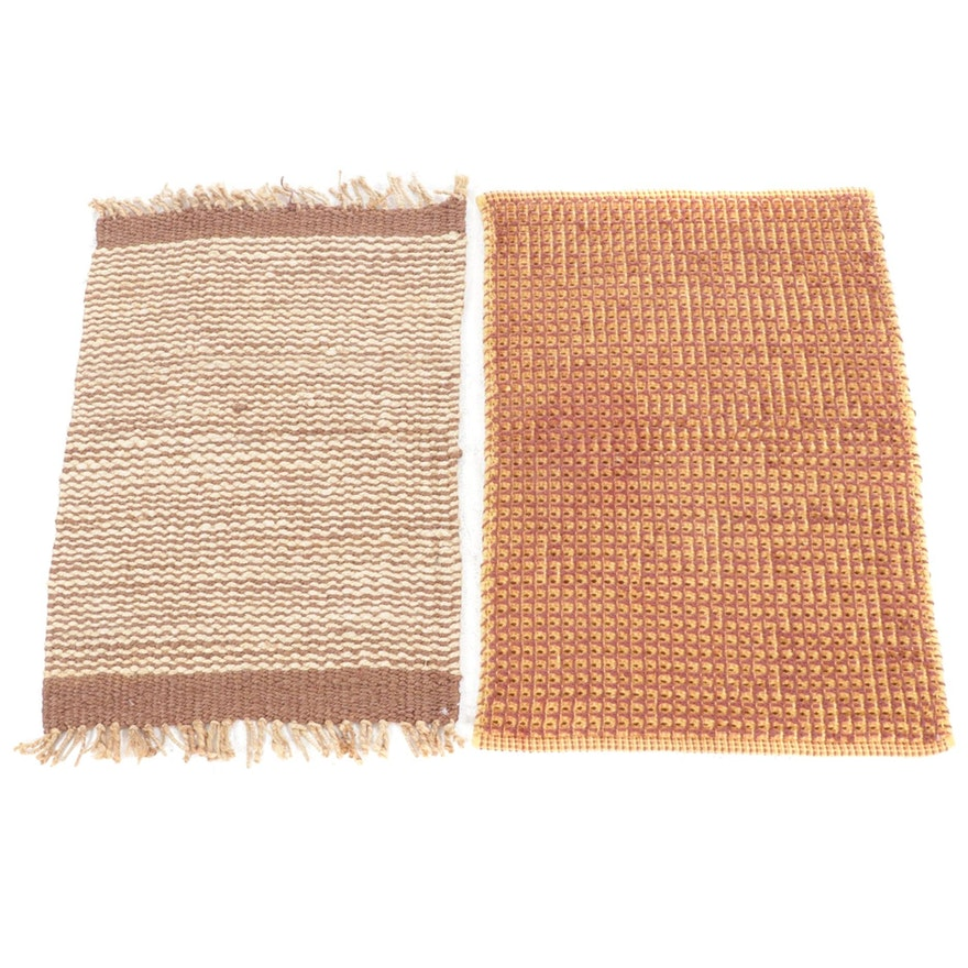 2'2 x 3'1 Handwoven Indian Modern Style Rugs, 2010s
