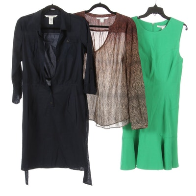Diane Von Furstenberg Printed Blouse, Shirtdress and Double Knit Dress