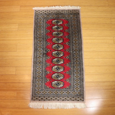 2' x 3'11 Hand-Knotted Pakistani Bokhara Wool Accent Rug