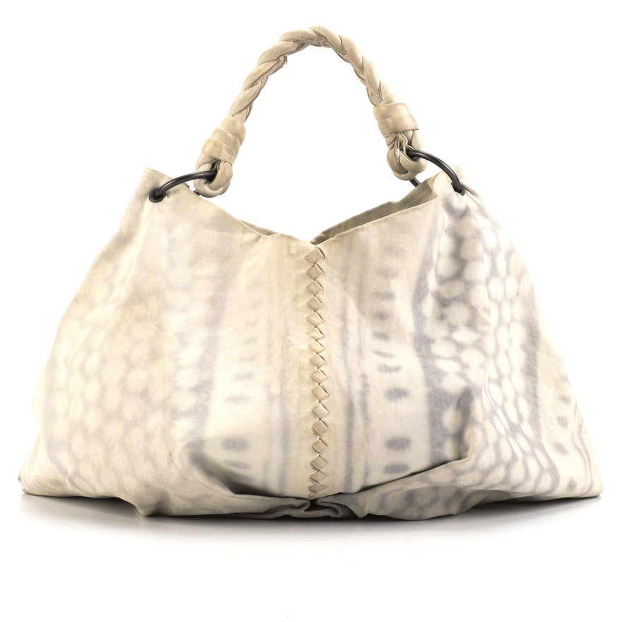 Bottega Veneta Aquilone Fortune Cookie Large Hobo Bag in Resist Dyed Leather