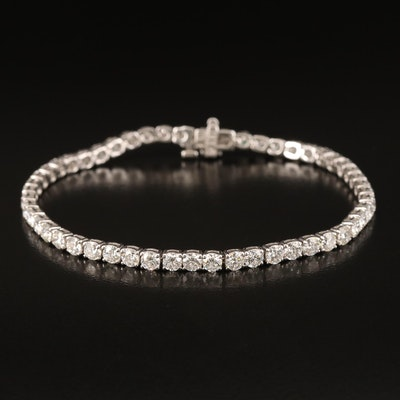 18K 5.75 CTW Diamond Line Bracelet
