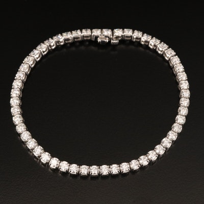 18K 5.50 CTW Diamond Line Bracelet