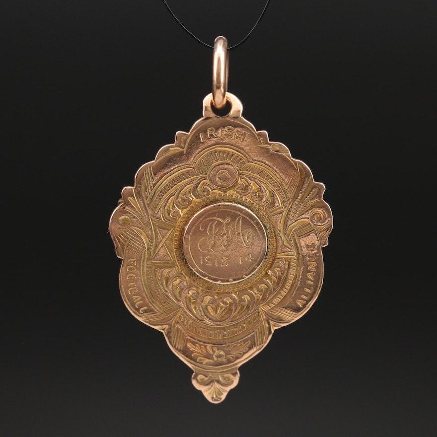 Antique 9K Football Alliance Winner Medal