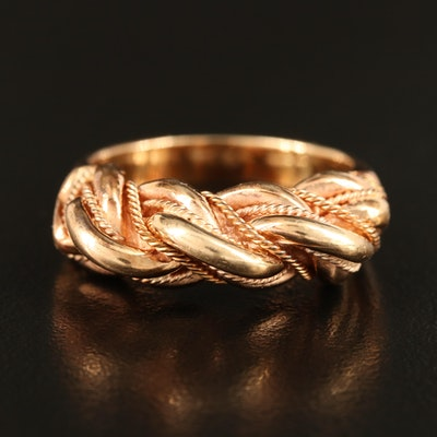 14K Rose Gold Braided Ring