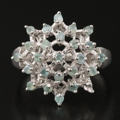 Sterling Alexandrite Cluster Ring