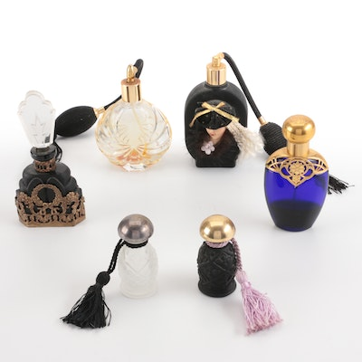 Apollo and Other Pressed Glass Perfume Bottles and Atomizers