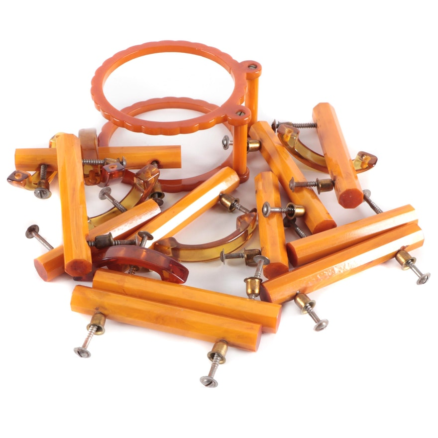 Bakelite Drawer Pulls and Napkin Holder