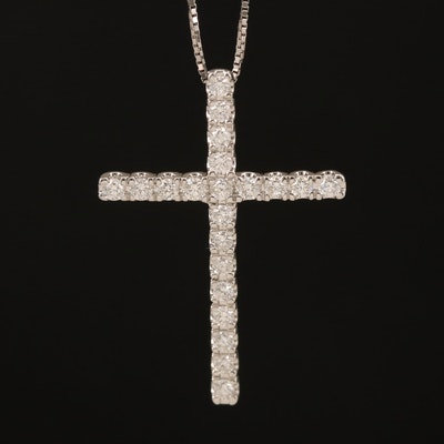 14K 0.37 CTW Diamond Cross Necklace