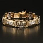 14K 0.96 CTW Diamond Bar Bracelet