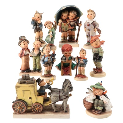 """Goebel """"The Mail Is Here"""" and Other Porcelain Figurines"""