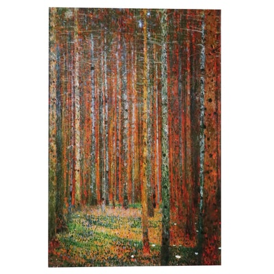 "Offset Lithograph After Gustav Klimt ""Pine Forest,"" 21st Century"