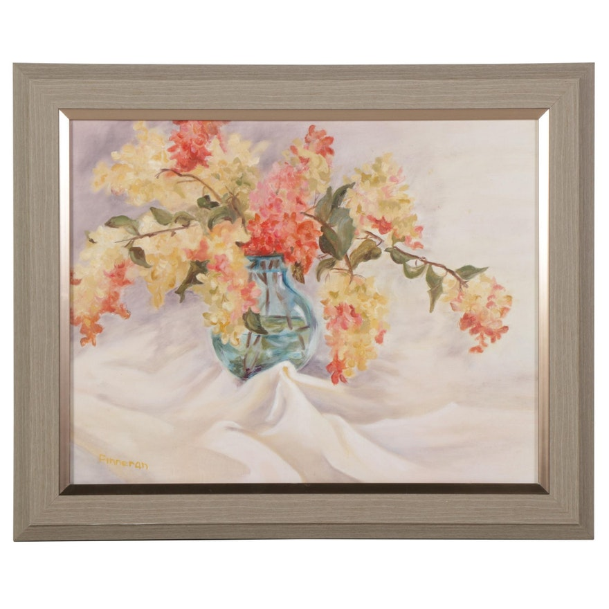 Sidney Finneran Still Life Oil Painting of Flowers, 21st Century
