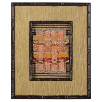 Andrea O'Neal Abstract Mixed Fiber Weaving, 21st Century