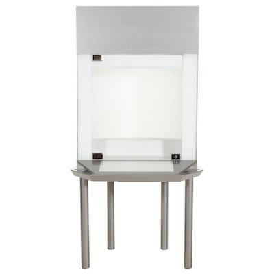 Illuminated Pedestal Museum Display Case