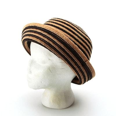 Naftali Abenaim Millinery Chenille Bucket Hat with Saks Fifth Avenue Hat Box