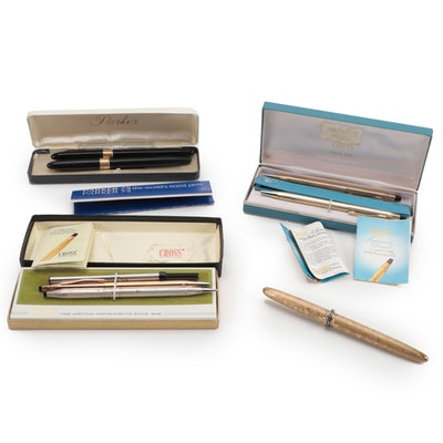 Cross Pen and Pencil Sets with Parker and Sheaffer Fountain Pens
