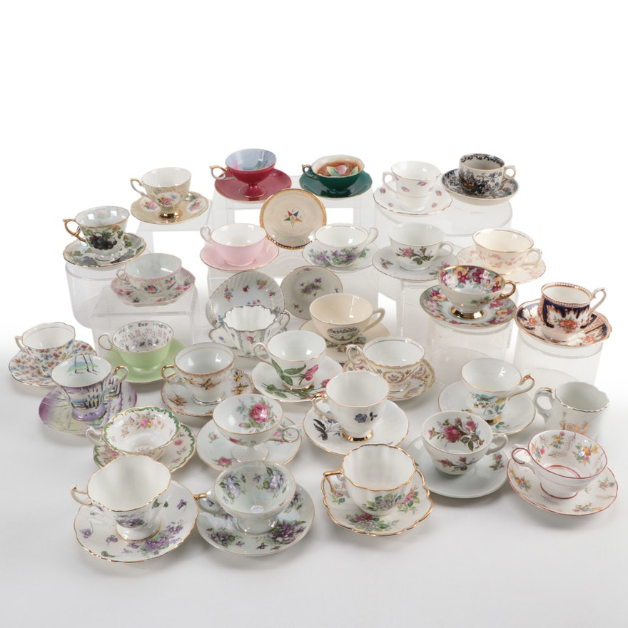 Heritage, Royal Crown, Aynsley Bone China and Other Tea Cups and Saucers