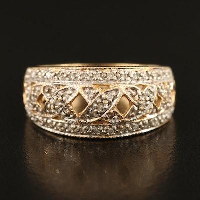 14K 0.16 CTW Diamond Lattice Ring