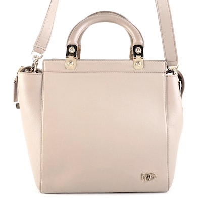 Givenchy HDG Small Tote in Taupe Leather with Detachable Strap