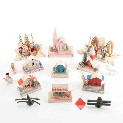 Christmas Table Decorations and Figurines, Mid-20th Century