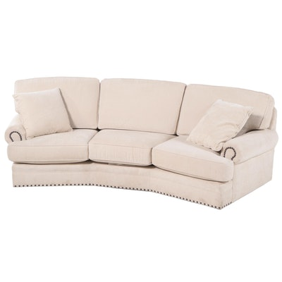 """Smith Brothers of Berne Custom-Upholstered and Studded """"Conversation"""" Sofa"""