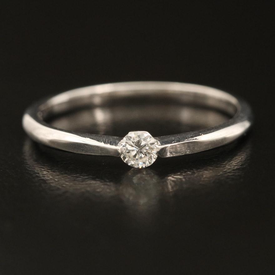 14K 0.11 CT Diamond Solitaire Ring