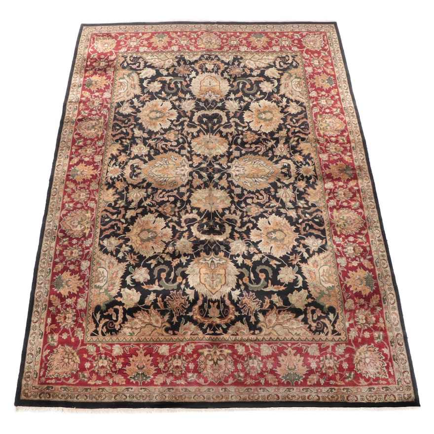 10' x 14'5 Hand-Knotted Indian Tabriz Room Sized Rug