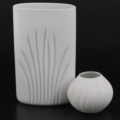 Rosenthal Studio-Linie White Bisque Vases, Late 20th Century