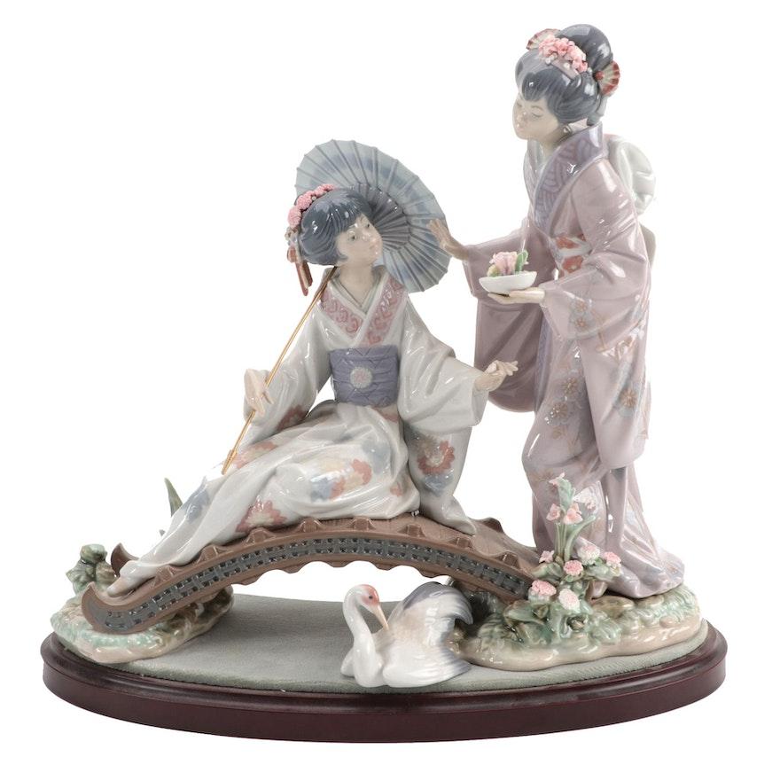 """Lladró """"Springtime in Japan"""" Porcelain Figurine Designed by Salvador Debón"""