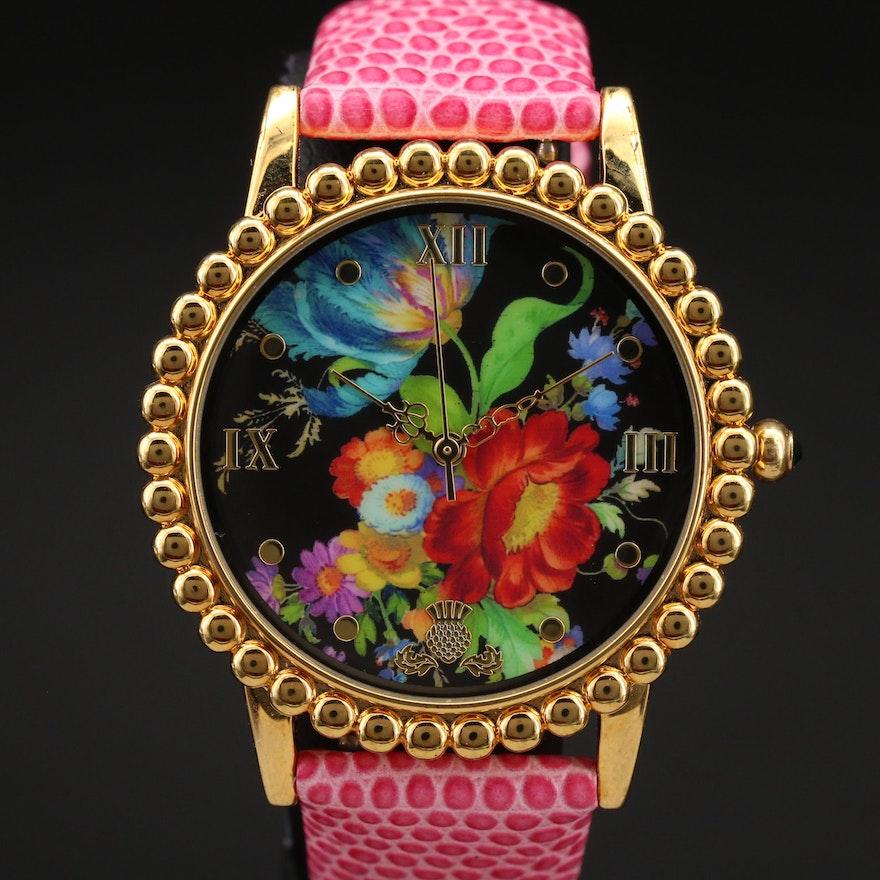 Mackenzie-Childs Floral Wristwatch