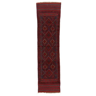 2'2 x 8' Hand-Knotted Afghan Turkmen Mixed Technique Carpet Runner