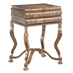 """Empire Style Gilt-Decorated """"Stacked Books"""" Side Table"""