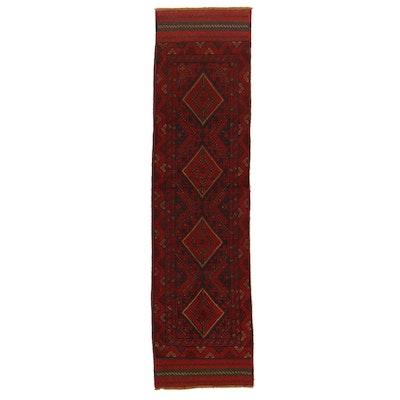 2'1 x 8'4 Hand-Knotted Afghan Turkmen Mixed Technique Carpet Runner