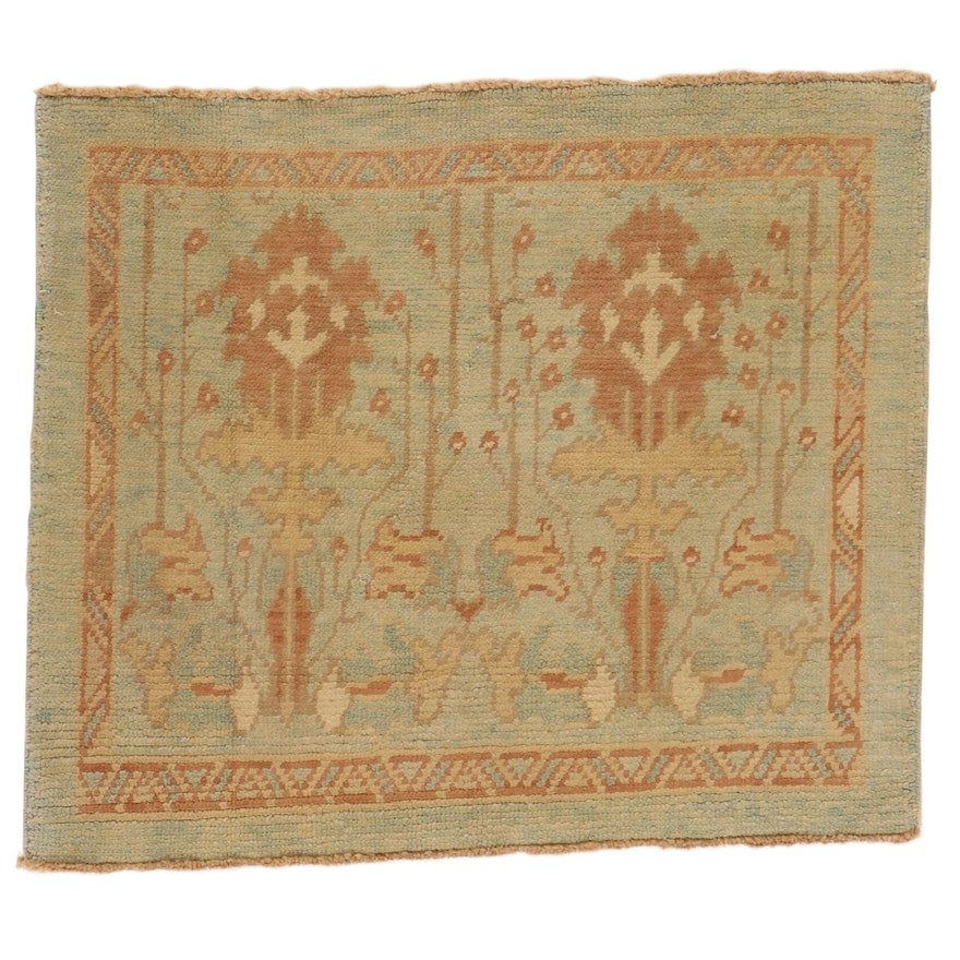3'7 x 4'1 Hand-Knotted Turkish Donegal Accent Rug