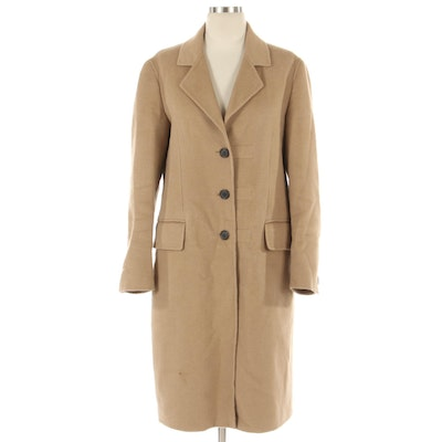 Prada Single-Breasted Cashmere Blend Button-Front Coat